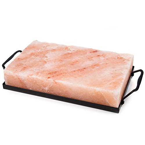 Cheapest Price! Zenware 10 x 6 x 2 Natural Himalayan Block Cooking Salt Plate & Holder Set - Blac...