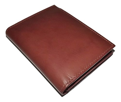 (Italia Leather Men's L Fold RFID Blocking credit Card Wallet with ID Toffee)