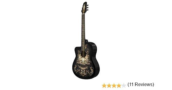 Guitarra acústica negra para zurdos 933C Alien de Lindo y ...