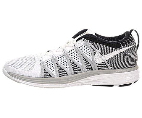 f14b683d704a NIKE Flyknit Women s Shoes White Wolf Grey Black 620658-100 (SIZE  11)  (B00K0G1VX4)
