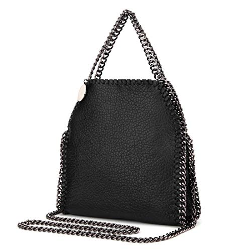 Leather Women Hobo with Chain Strap Soft Leather Shoulder Bag with Chain Top Handle