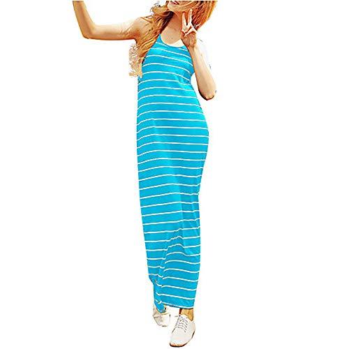 Maxi Primavera Recto Vestido Royalblue Algodón S TTDRESS Mujer qwpFn1nI