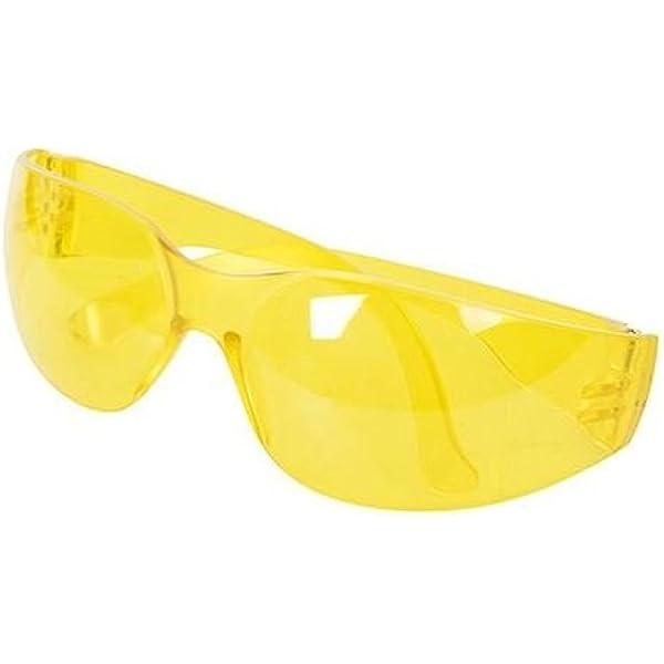 Silverline 309636 Gafas de seguridad con protección UV, Amarillo: Amazon.es: Bricolaje y herramientas