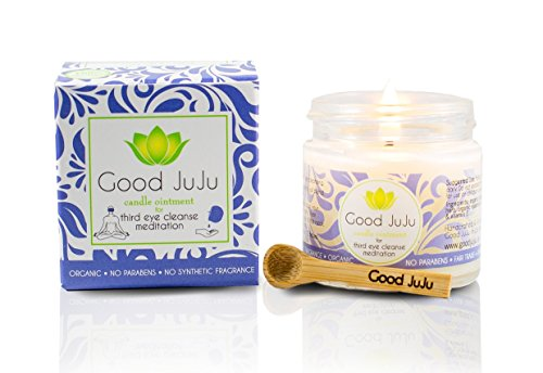 Good JuJu Apothecary 1 oz. Organic Therapeutic Massage Candle for Meditation, Anxiety & Third Eye Cleansing by Good JuJu Apothecary