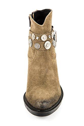 Lazamani Damen Western Boots Khaki Grün Gr. 37