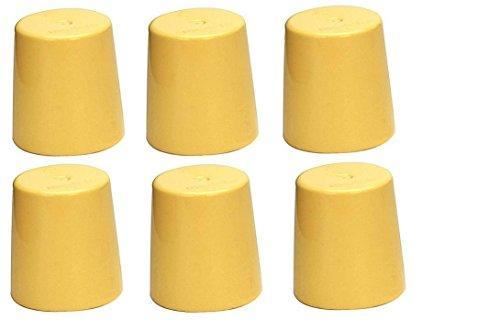 (6) Medela Yellow Travel Caps (other name: bottle cap/ nipple cap/ collar cap) - Genuine for Use with Collar Ring - Medela Bottles