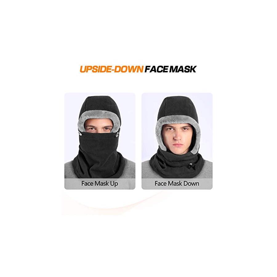 DIMPLES EXCEL Balaclava Fleece Hood Winter Warmer Balaclava Fleece Hood Ski Face Mask Wind Resistant for Men and Women