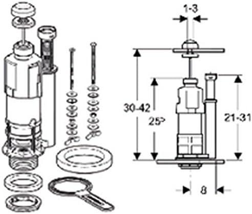 M/écanisme de cloche seul simple touche interrompable NEMO pour Aspirambo chrom/é brillant R/éf 282.006.21.1
