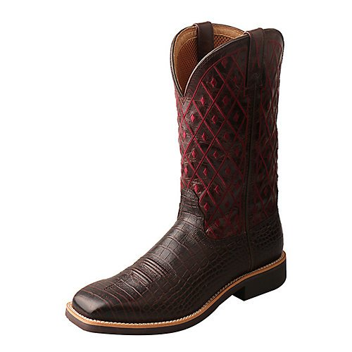 Twisted X Women's Top Hand Caiman Print Square Toe Cowgirl Boots (8.5)