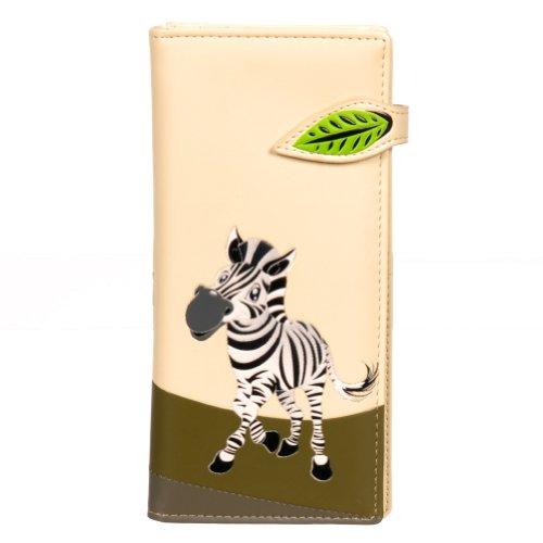 Cream Zebra Womens Wallet Shagwear