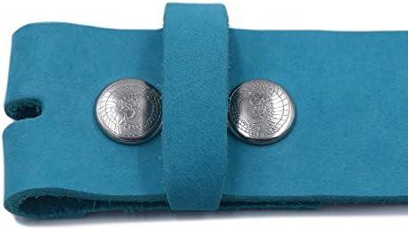 almela Herren und Damen g/ürtel ohne Schnalle Echtes Leder 35 mm und 40 mm Druckkn/öpfe. Austauschbare Schnallen 3,5 cm und 4 cm
