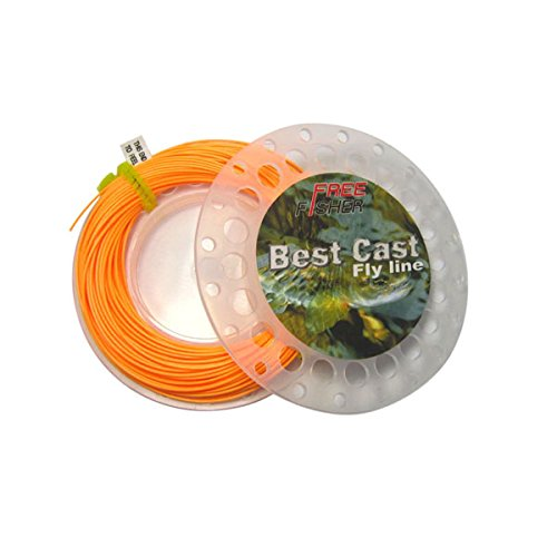 Free Fly Line - Free Fisher Best Cast Fly Fishing Line Weight Forward 100ft Orange WF-5F
