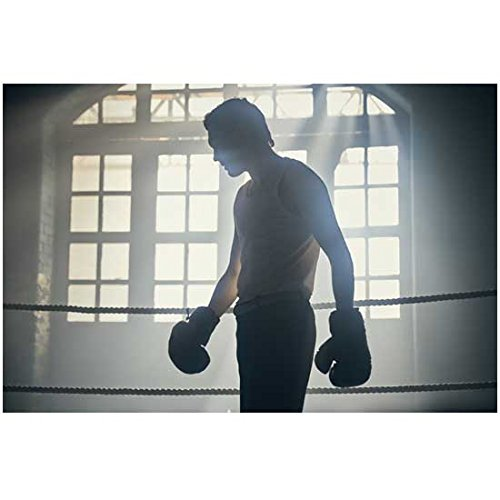 Jack Rowan 8 Inch x 10 Inch Photograph Peaky Blinders (TV Series 2013 -) Silhouette Against Windows in Boxing Ring kn