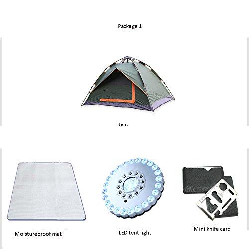 持ってる十億起こるQFFL zhangpeng テント自動ダブル雨テントアウトドアスピードオープン2-3人テントフィールドキャンプテント4色オプション210 * 150 * 120センチメートル トンネルテント ( 色 : C )