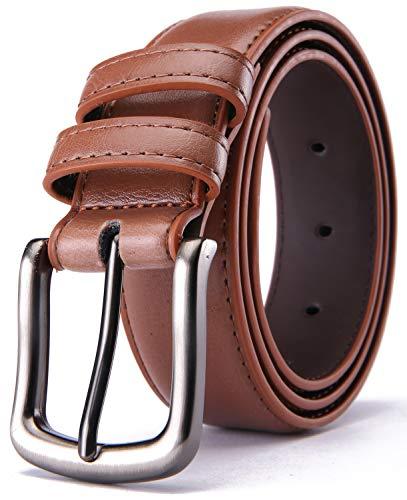 Camel Apparel - Mens Belt,HW Zone Genuine Leather Dress Belt Classic Casual 1 1/4