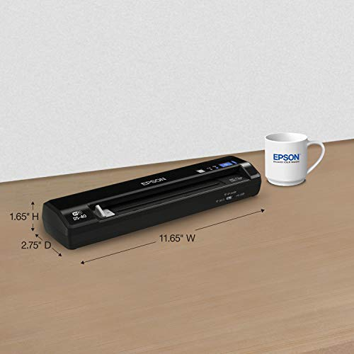 Epson WorkForce DS-40 Wireless Portable Document Scanner for PC and Mac, Sheet-fed, Mobile/Portable (Certified Refurbished) by Epson (Image #4)