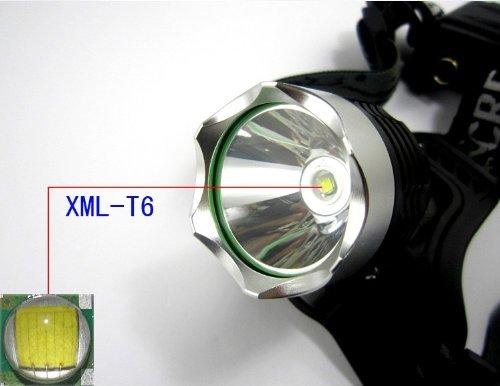 eBoTrade XML T6 LED Headlight Headlamp Torch Flashlight 1600lm + 2 x Rechargeable 18650 Battery, Waterproof Design