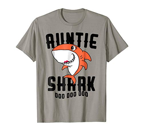 Auntie Shark T Shirt Mom Grandma Halloween Christmas
