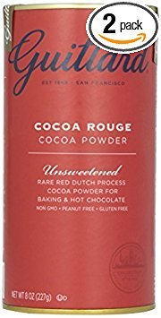Cocoa Red (E Guittard Cocoa Powder, Unsweetened Rouge Red Dutch Process Cocoa, Two (2) 8oz Cans)
