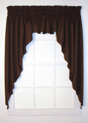 Amazon.com: Dayita Solid Color Tailored 3 Piece Swags & Valance ...
