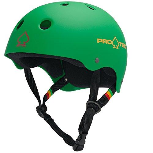 PROTEC Original Classic Skate Helmet, Rasta Green, Medium