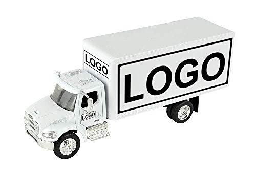 Shop72 Personalized Diecast Truck 1:43 Scale Customized Freightliner M2 White Box Truck with Your Logo, Image or -