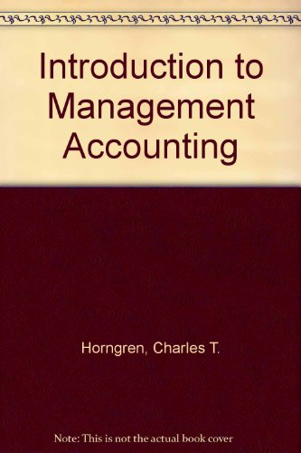 Introduction to Management Accounting - Study Guide