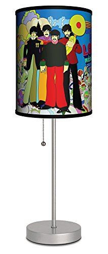 Lamp-In-A-Box SPS-BEA-YSLOV The Beatles-Beatles Yellow Submarine Love Needs Silver Sport Lamp,