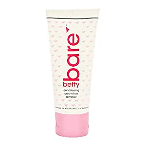 BettyBare Condtitioning Body and Bikini Cream Hair Remover, 2.0 fl. oz. by Betty Beauty