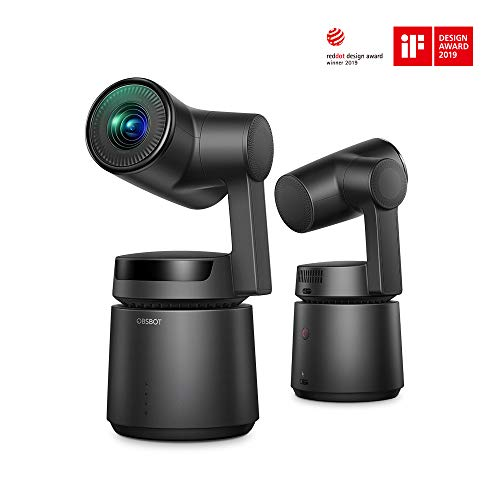 - OBSBOT Tail AI Camera, 4K/60fps Video and 12 MP Photos,3-Axis Gimbal with Integrated Camera,AI Tracking Shooting 360,Attachable to Smartphone, Android, iPhone(Black)