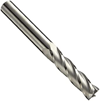 "Niagara Cutter N85508 Carbide Square Nose End Mill, Inch, Uncoated (Bright) Finish, Roughing and Finishing Cut, 30 Degree Helix, 4 Flutes, 1.5"" Overall Length, 0.094"" Cutting Diameter, 0.125"" Shank Diameter"