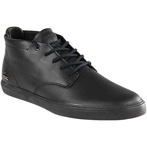 Lacoste Men's Espere Chukka 317 1 Black/Black High Top Sneaker (11) (High Black Top Shoes Mens Leather)