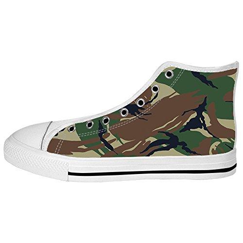 Custom camuffamento Womens Canvas shoes I lacci delle scarpe scarpe scarpe da ginnastica Alto tetto