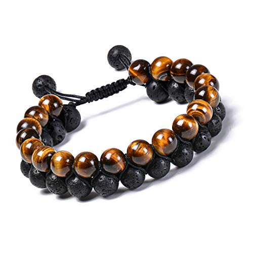 Startoo Tiger Eye Chakra Beaded Bracelets - Adjustable