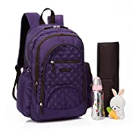Colorland Smart Large Backpack Diaper Bag Purple