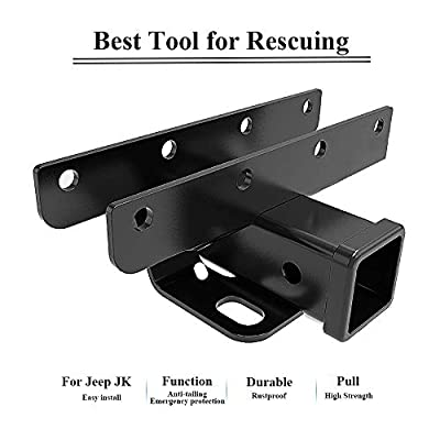 BulbForst Jeep Trailer Hitch with 2