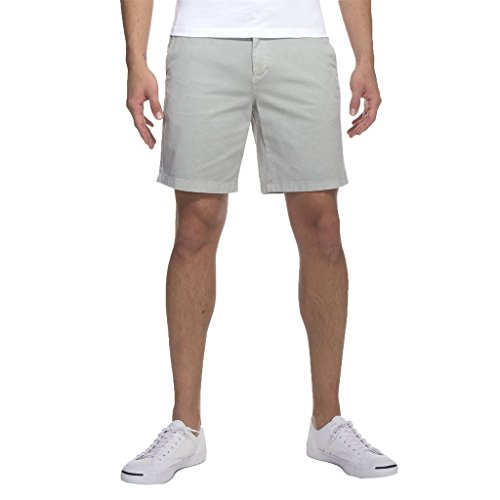 Johnnie O Neal Stretch Twill Shorts – Nimbus Gray 38