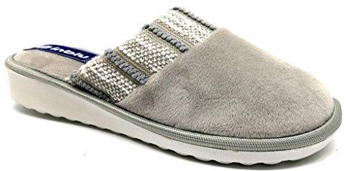 Inblu Pantofole Slippers Art D'hiver Des Femmes. Ci-68 Gris