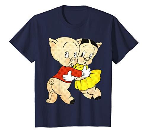 Kids Looney Tunes Porky & Petunia Pig Portrait T-Shirt