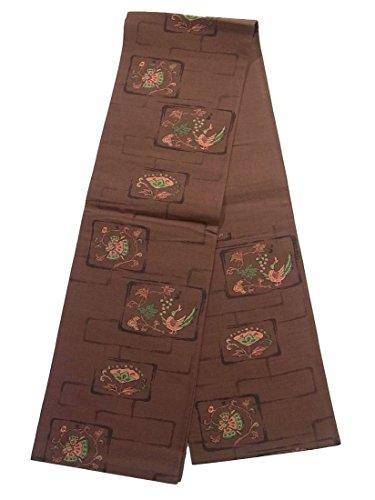 モットー放牧する暗記するリサイクル 袋帯 色紙に葡萄と花鳥文 正絹 六通
