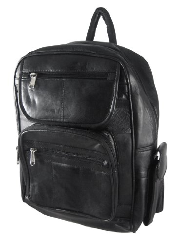 Things2Die4 Large Black Lambskin Leather Backpack Purse