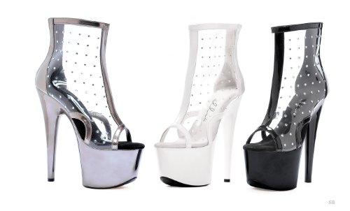 Ellie Sko 7 Tommers Spiss Stiletto Sandal Hvite