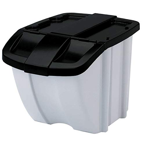 (Suncast BH188810 18 Gallon Indoor or Stacking Recycle Storage Bin, (Open Box))