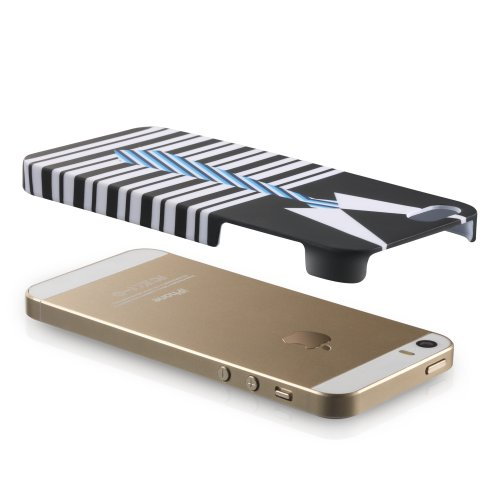 Fosmon Apple iPhone 5 / 5S / SE (MATT-FASHION) Rubberized Hard Slim-Fit Case Cover
