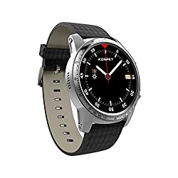 ZwbfuKospet KT99 Make Your Own Phone Heart Rate Smart BT Sport GPS 3G/2G Watch-Phone 2GB RAM 16GB ROM MTK6580m Quadcore Android 5.1 Call Notification Pedometer Alarm Metal Body MP3 MP4 WiFi