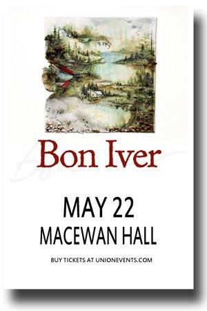 Bon Iver Poster - 11 x 17 Concert Promo Justin Vernon For Emma, Forever Ago (Vernon Wine)