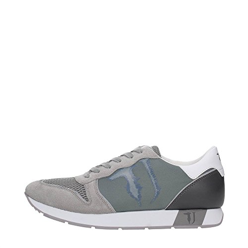 Trussardi Jeans 77S507 Grigio, Blu e Verde Sneakers Uomo Scarpa Sportiva Casual Grigio