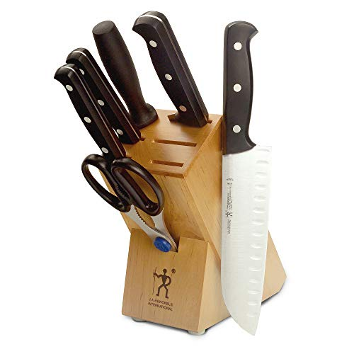 J.A. Henckels 35340-000 Fine Edge Pro Knife Block Set, 7 Piece, Black ()