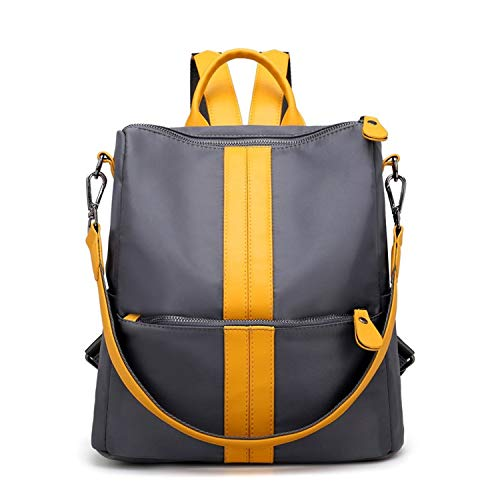 Phong's 2018 New Fashion Women Backpack Nylon Oxford Spinning Multifunction Big Bag Famous Designer Chain Shoulder Bag (blue)
