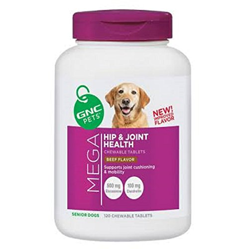 GNC Pets Mega Hip and Joint Health - Senior Dogs - Beef Flavor 120 chewable ()